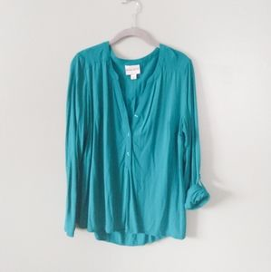 Ava and Viv Teal tunic style top